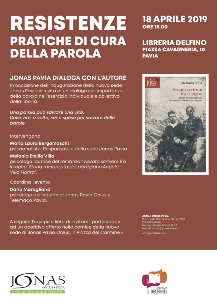 18 Aprile 2019: Resistenze pratiche di cura della Parola - #ConPavia